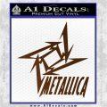 Metallica Ninja Star TXT Decal Sticker Brown Vinyl 120x120