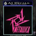 Metallica Ninja Star TXT Decal Sticker Hot Pink Vinyl 120x120