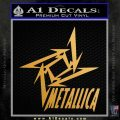 Metallica Ninja Star TXT Decal Sticker Metallic Gold Vinyl Vinyl 120x120