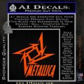 Metallica Ninja Star TXT Decal Sticker Orange Vinyl Emblem 120x120