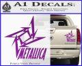 Metallica Ninja Star TXT Decal Sticker Purple Vinyl 120x97