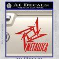 Metallica Ninja Star TXT Decal Sticker Red Vinyl 120x120