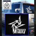 Metallica Ninja Star TXT Decal Sticker White Emblem 120x120