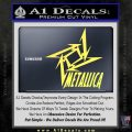 Metallica Ninja Star TXT Decal Sticker Yelllow Vinyl 120x120
