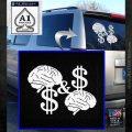Mind On My Money Decal Sticker Snoop Dogg White Emblem 120x120