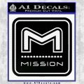Mission Archery Decal Sticker RT Black Logo Emblem 120x120