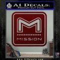 Mission Archery Decal Sticker RT Dark Red Vinyl 120x120
