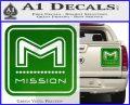 Mission Archery Decal Sticker RT Green Vinyl 120x97