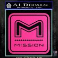 Mission Archery Decal Sticker RT Hot Pink Vinyl 120x120