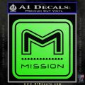 Mission Archery Decal Sticker RT Lime Green Vinyl 120x120