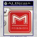 Mission Archery Decal Sticker RT Red Vinyl 120x120