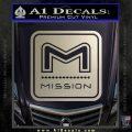 Mission Archery Decal Sticker RT Silver Vinyl 120x120