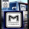 Mission Archery Decal Sticker RT White Emblem 120x120