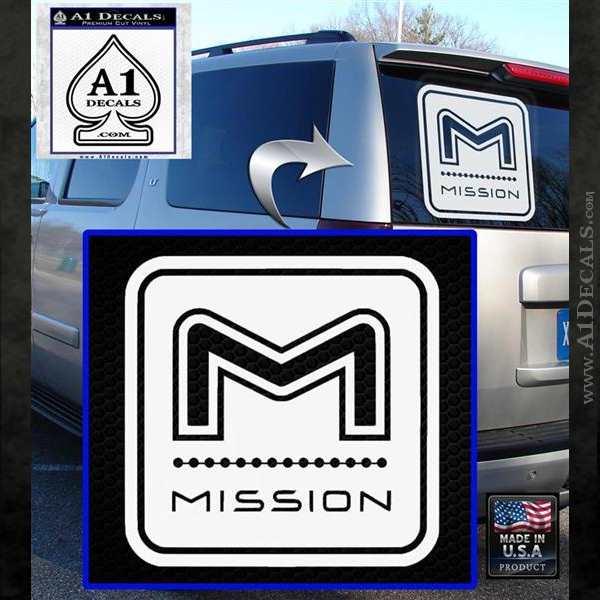 Mission Archery Decal Sticker RT White Emblem
