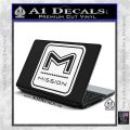 Mission Archery Decal Sticker RT White Vinyl Laptop 120x120
