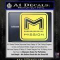 Mission Archery Decal Sticker RT Yelllow Vinyl 120x120
