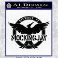 Mockingjay District 13 emblem Hunger Games DLB Decal Sticker Black Logo Emblem 120x120