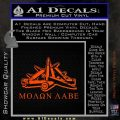 Molon Labe Ammo Pile Decal Sticker Orange Vinyl Emblem 120x120