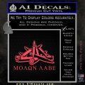 Molon Labe Ammo Pile Decal Sticker Pink Vinyl Emblem 120x120