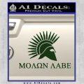 Molon Labe Bullets Spartan Decal Sticker Dark Green Vinyl 120x120