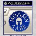 Molon Labe Come And Take Them s Decal Sticker Blue Vinyl 120x120