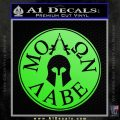 Molon Labe Come And Take Them s Decal Sticker Lime Green Vinyl 120x120