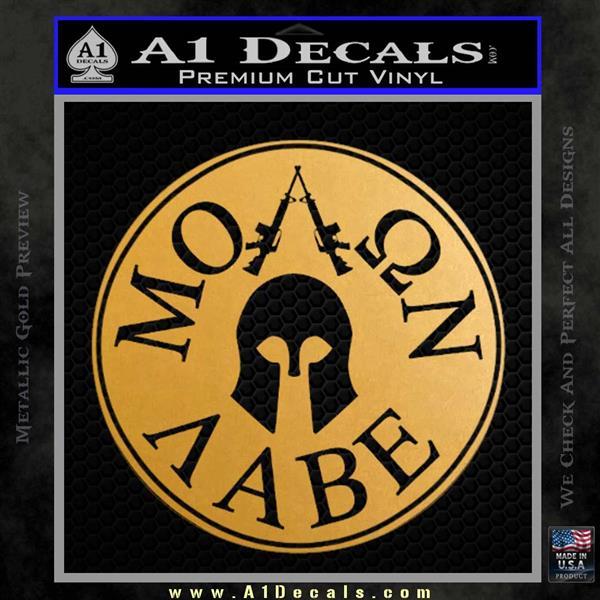 Molon Labe Come And Take Them s Decal Sticker Metallic Gold Vinyl