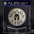 Molon Labe Come And Take Them s Decal Sticker Silver Vinyl 120x120