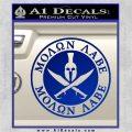 Molon Labe Come Take It CR2 Decal Sticker Blue Vinyl 120x120
