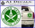 Molon Labe Come Take It CR2 Decal Sticker Green Vinyl 120x97