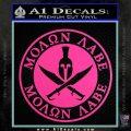 Molon Labe Come Take It CR2 Decal Sticker Hot Pink Vinyl 120x120