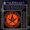Molon Labe Come Take It CR2 Decal Sticker Orange Vinyl Emblem 120x120