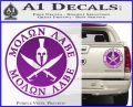 Molon Labe Come Take It CR2 Decal Sticker Purple Vinyl 120x97
