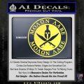 Molon Labe Come Take It CR2 Decal Sticker Yelllow Vinyl 120x120