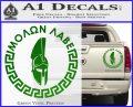 Molon Labe Decal Sticker CR23 Green Vinyl 120x97