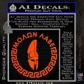 Molon Labe Decal Sticker CR23 Orange Vinyl Emblem 120x120