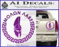Molon Labe Decal Sticker CR23 Purple Vinyl 120x97