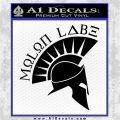 Molon Labe Decal Sticker Spartan D8 Black Logo Emblem 120x120