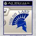 Molon Labe Decal Sticker Spartan D8 Blue Vinyl 120x120