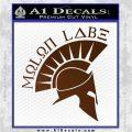 Molon Labe Decal Sticker Spartan D8 Brown Vinyl 120x120