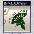 Molon Labe Decal Sticker Spartan D8 Dark Green Vinyl 120x120
