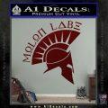 Molon Labe Decal Sticker Spartan D8 Dark Red Vinyl 120x120
