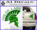 Molon Labe Decal Sticker Spartan D8 Green Vinyl 120x97