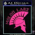 Molon Labe Decal Sticker Spartan D8 Hot Pink Vinyl 120x120