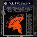 Molon Labe Decal Sticker Spartan D8 Orange Vinyl Emblem 120x120