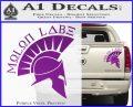 Molon Labe Decal Sticker Spartan D8 Purple Vinyl 120x97