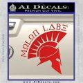 Molon Labe Decal Sticker Spartan D8 Red Vinyl 120x120