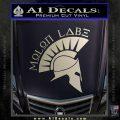 Molon Labe Decal Sticker Spartan D8 Silver Vinyl 120x120
