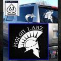 Molon Labe Decal Sticker Spartan D8 White Emblem 120x120