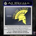 Molon Labe Decal Sticker Spartan D8 Yelllow Vinyl 120x120
